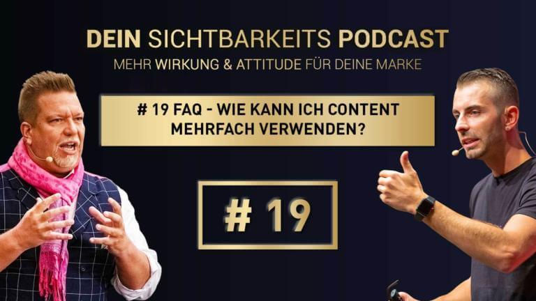 # 19 FAQ – Wie kann ich Content mehrfach verwenden?